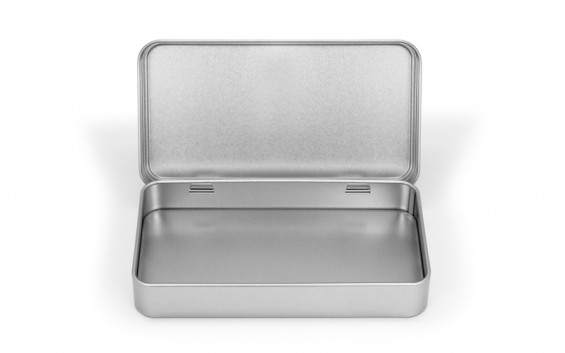 Caixa de metal retangular