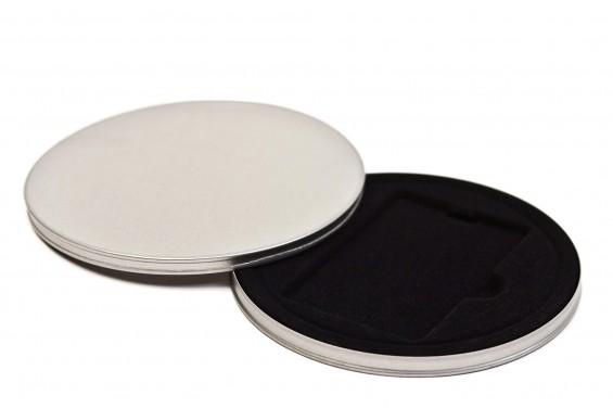 Caixa metal redonda para Cartões Preta