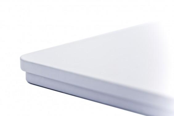 Caixa metal com tampa branca