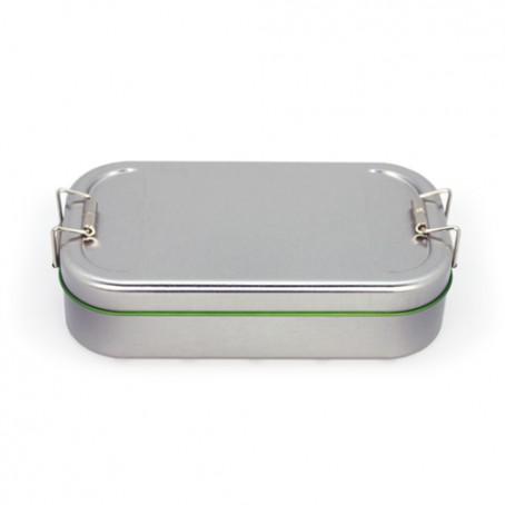 Caixa de metal tipo lancheira