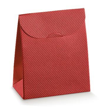 Embalagem de cartão vermelha
