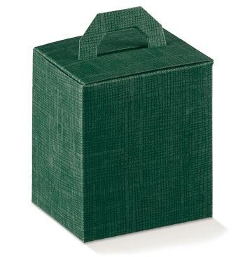 Caixa verde com pega