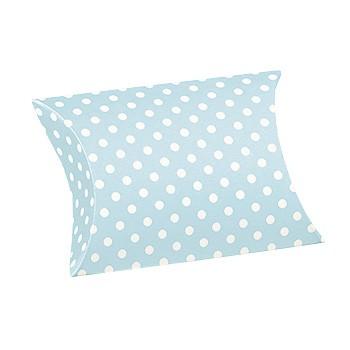 Almofada azul com impressões