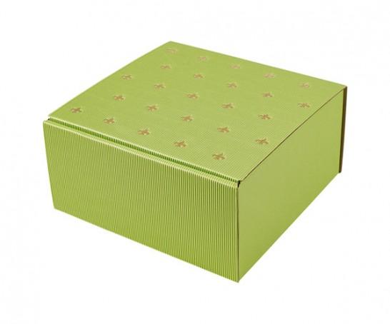 Embalagem de cartão verde