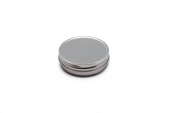 Embalagem metal redonda baixa