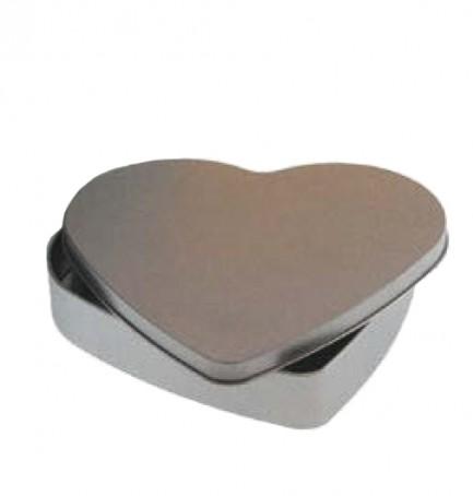 Embalagem metal em coração