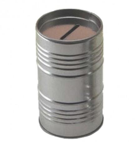 Mealheiro de metal - Latinha de moedas