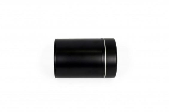 Embalagem de metal preta