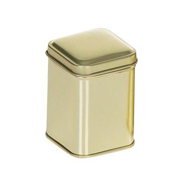 Embalagem quadrada dourada