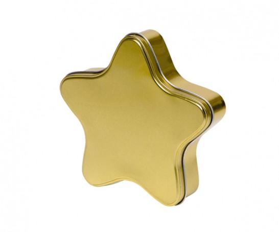 Estrela de metal dourada