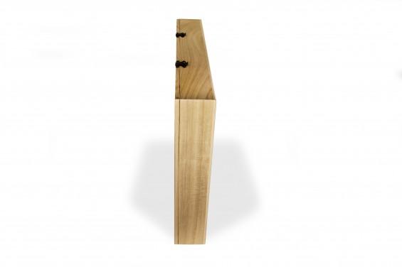 Embalagem de madeira grande com janela na tampa