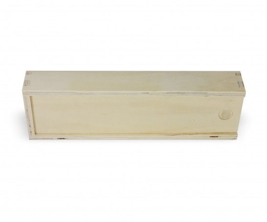 Caixa de madeira multiusos com tampa deslizante