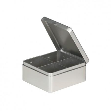 Embalagem de metal com 4 separadores