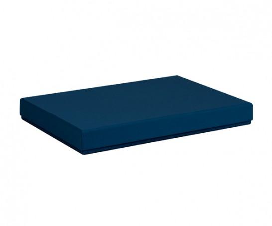 Caixa azul escura