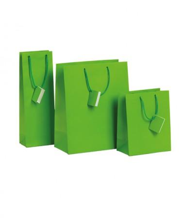 Saco de papel verde