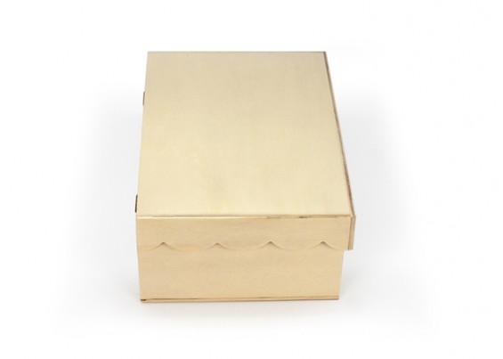 Caixa de madeira com tampa recortada