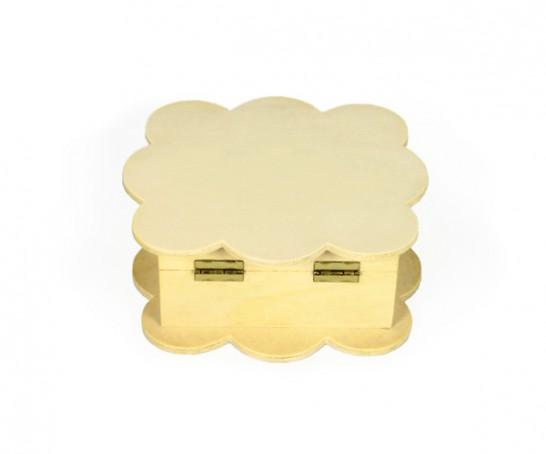 Caixa de madeira em formato nuvem
