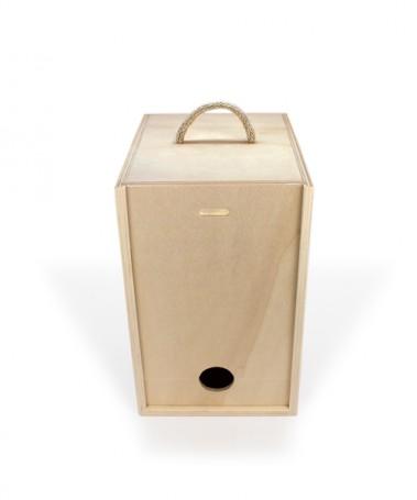 Caixa de madeira resistente para bag in box vinho ou whiskey