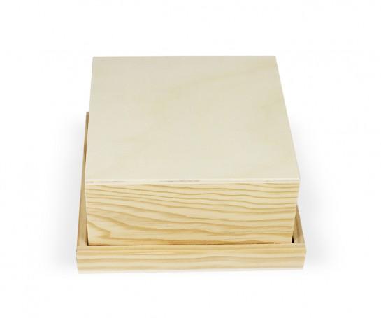 Caixa de madeira com 16 separadores