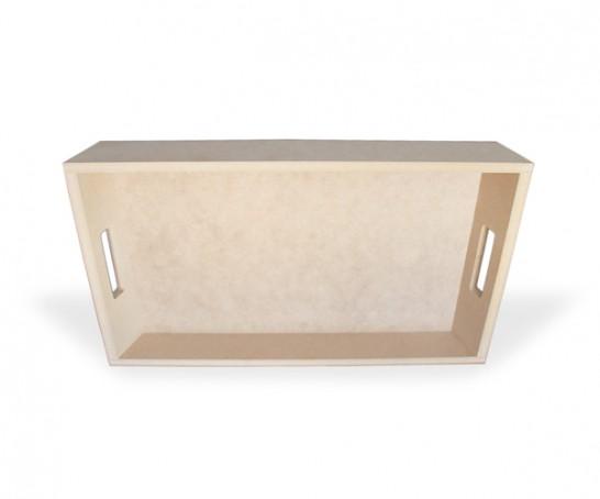 Tabuleiro de madeira em MDF com pegas - bandeja pequeno almoço