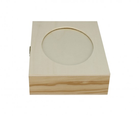 Caixa com recorte oval