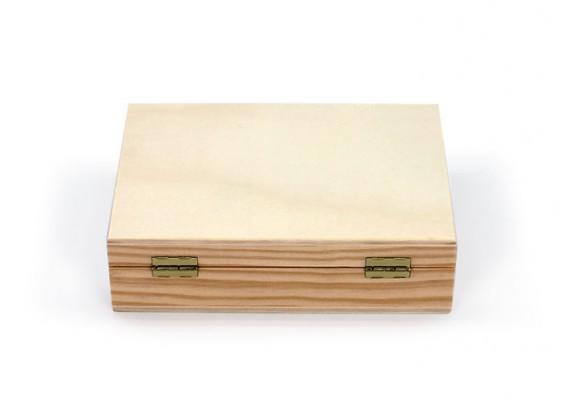 Caixa de madeira com divisória