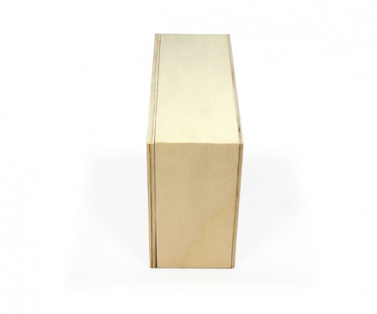 Caixa de madeira multifuncional de choupo com tampa amovível