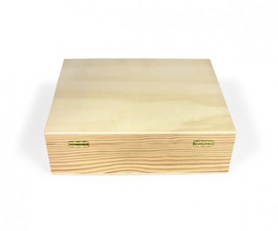 Caixa de madeira com divisórias