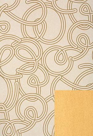 Papel de embrulho em tons de amarelo