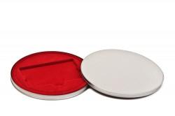 Caixa metal redonda para Cartões Vermelha
