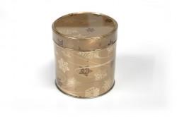 Embalagem de metal redonda