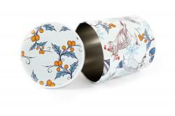 Embalagem de metal redonda com tampa amovível