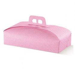Embalagem de cartão rosa para bolos