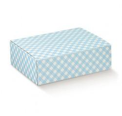Caixa em azul e branco