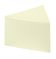 Embalagem de cartão em forma triangular