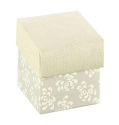 Cubo branco com impressão