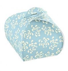 Embalagem azul com impressão