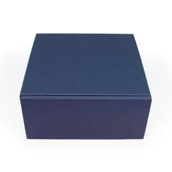 Embalagem cartão ondulado azul-marinho
