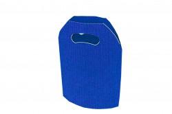 Saco cartão ondulado azul