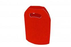 Saco cartão ondulado vermelho