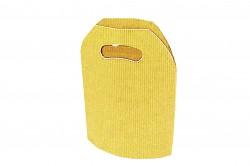 Saco cartão ondulado amarelo