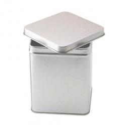 Embalagem de metal quadrada