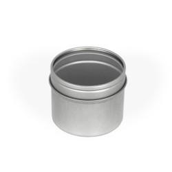 Embalagem de metal com tampa em acrílico