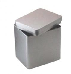 Pote de metal retangular