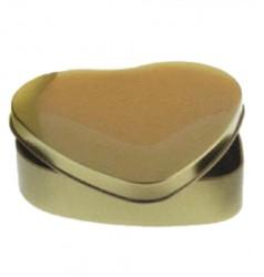 Embalagem metal em coração Dourado