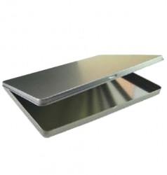 Embalagem metal retangular baixa A5