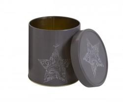 Embalagem de metal natalícia