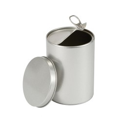 Embalagem redonda tipo abre latas