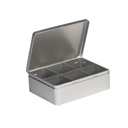 Embalagem de metal com 6 separadores