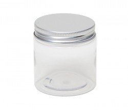 Frasco PET de 100 ml com tampa em metal